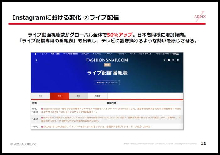 ASHIONSNAP.COMでは、ライブ配信の番組表まで作られています