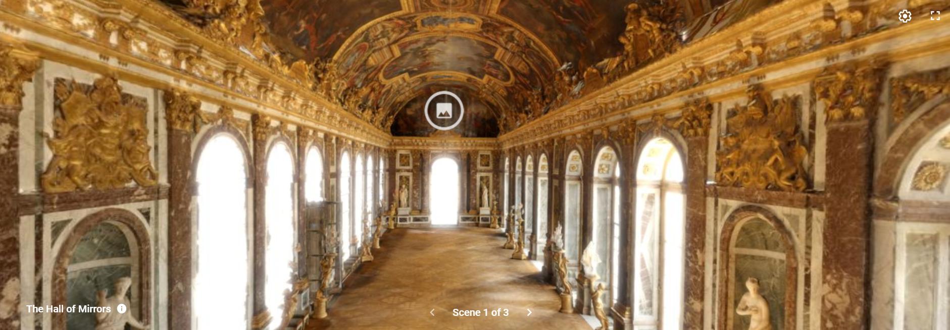 ヴェルサイユ宮殿VRツアー:スクリーンショット